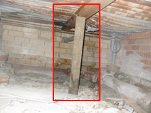 Formwork acting as a termite highway.
