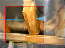 Technically this framing detail does not comply with the Timber Framing Code.